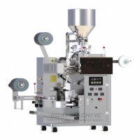 Oolong tea packing machine with thread and label