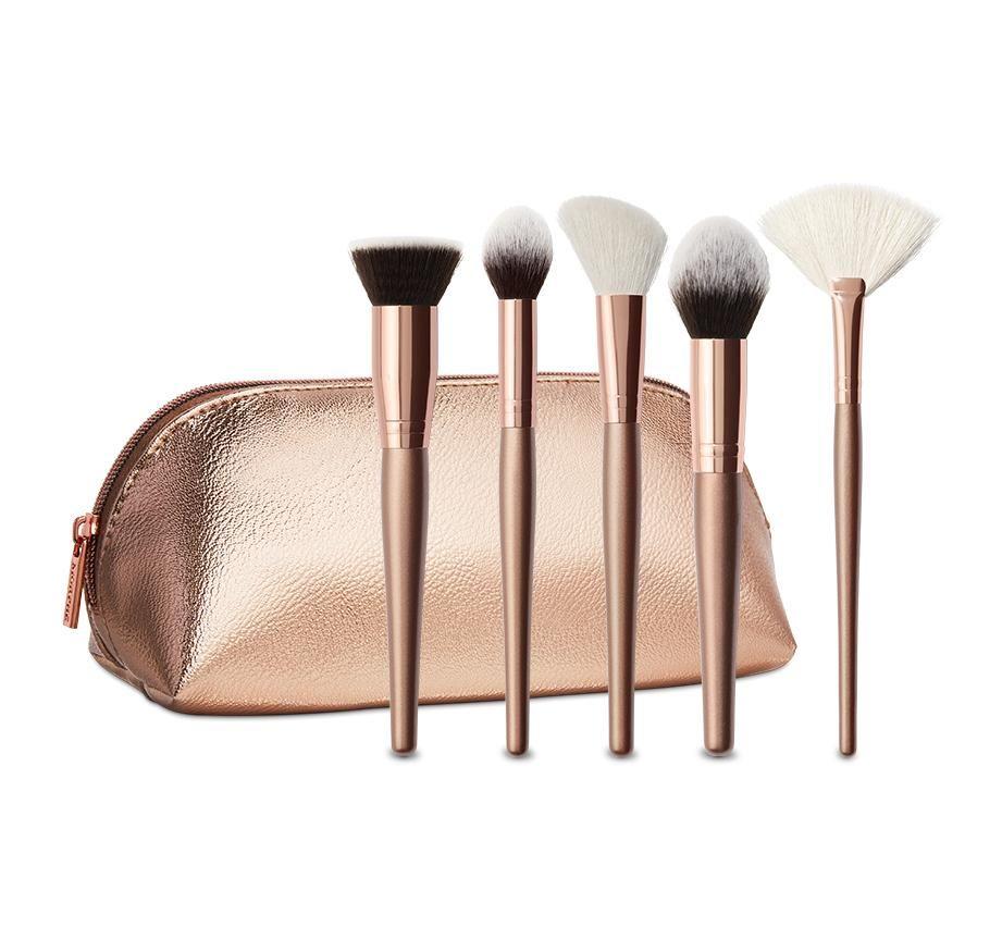 OEM 5pcs Synthetic hair face makeup brush set