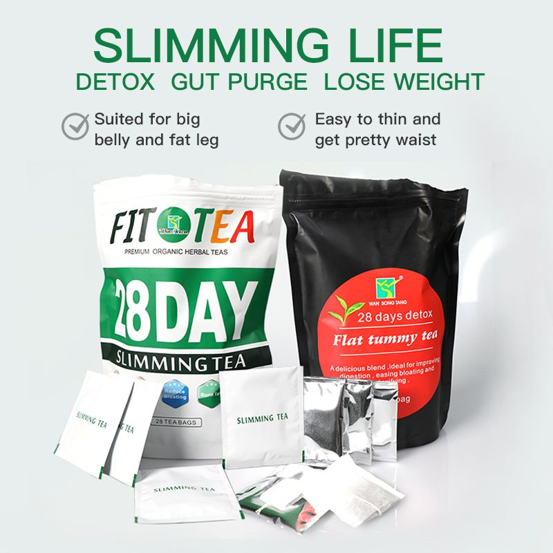 Slimming Detox Tea weight loss 28 days skinny detox tea wasp waist tea
