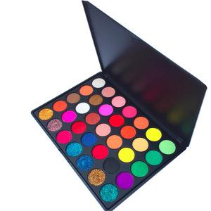 2018 newest OEM private label makeup palette 35 Colors Eyeshadow Palette Custom Makeup Palette