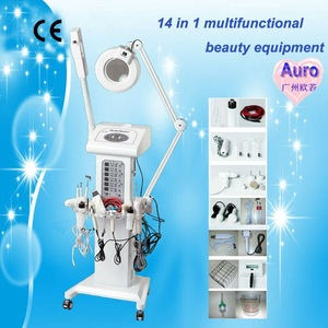 AU-2008 14 in 1 Multifunctional Ultrasonic skin care beauty instrument with CE