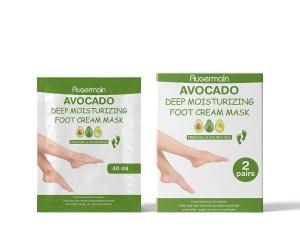 Avocado Foot Mask Sheet 40 ml/1.4 fl.oz Moisturizing Feet Skin Care Foot Mask Private Label