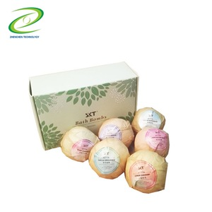 Beautiful Gift Set 6 Pieces Per Box Wrapped in Paper China Fizzy Bath Bombs Bath Salt wholesale