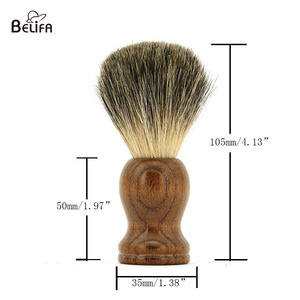 Belifa badger brush hair with wood handle barber boar high quality shaving brush