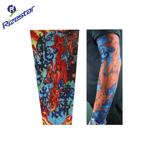 Fashion Elastic Tattoo Sleeve Body Art Photo