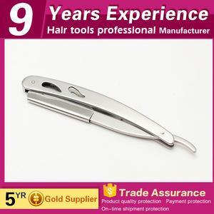 Practical economical removable silver safety straight barber razor for men