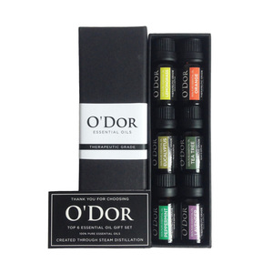 Top 6 Essential Oils 100% Pure & Therapeutic grade - Basic Sampler Gift Set & Premium Kit - 6/10 Ml - 826117
