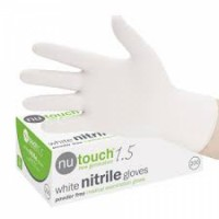 White Nitrile Gloves Powder Free200 Pcsfor sale
