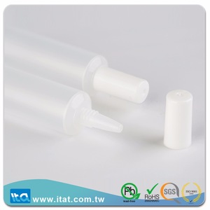 120ml transparent clear cosmetic tube screen printing matte tube