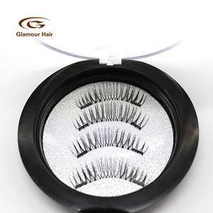3D Private Label Magnetic False Eyelashes double/three Magnets eyelashes