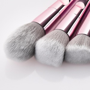 Classical pink handle 10pcs professional brush set makeup