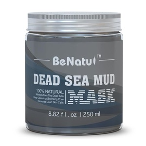 Dead Sea Mud Mask 100% Natural Mineral - Best Facial Cleanser, Pores Minimizer, Acne Reducer, Blackhead Remover for Face & Body