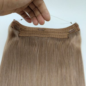 Double Drawn Brazilian Remy Halo Human Hair Extension