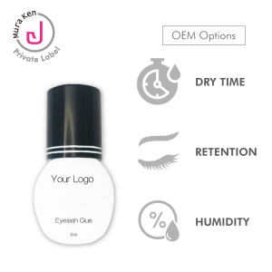 Eyelash Extension Glue Black Waterproof Lash Glue Private Label 10ml