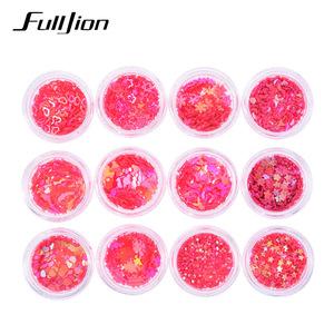 Fulljion Body Glitter Glow Face Gems Crystal Festival Makeup Nail Glitter Maquiagem