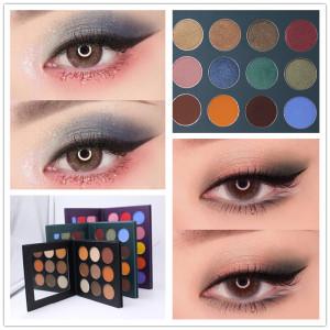 High Pigment Private Label Magnetic Diy Eyeshadow Palette Pressed Glitter Eyeshadow