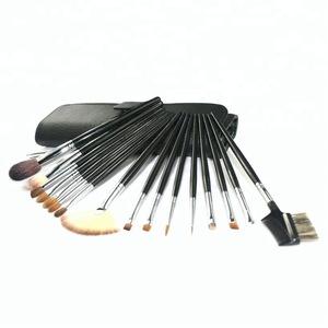high quality organic big makeup brush set natural hair brand oval brushes makeup