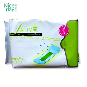 Hot sale cheap price mini organic Feminine hygiene Products panty liner wingless anion russia sanitary pads for women ladies