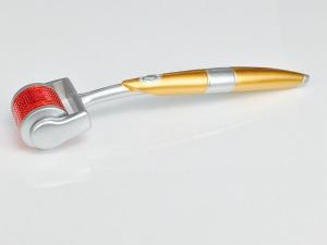 Medical Grade ZGTS Derma Roller Golden Handle Microneedle Derma Roller Titanium 192 Micro Needle Roller