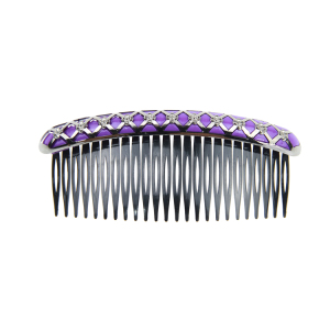 Natural Plastic Hair Comb Women Girls Useful Plastic Hair Comb With Shining Pearl