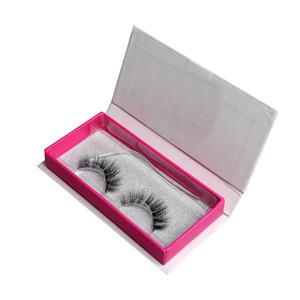 New arrived round case eyelash very soft natural false 3d mink lashes custom eyelash packaging