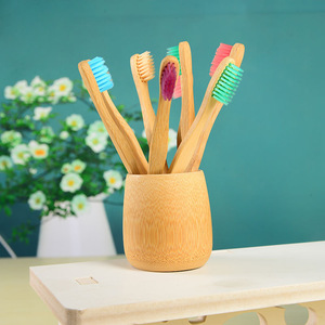 New Design 100% Biodegradable Bamboo Charcoal Toothbrush Wholesale