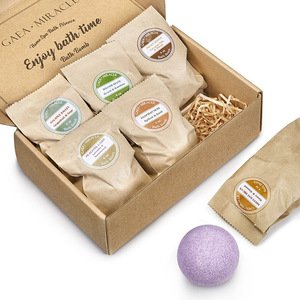 Private Label Custom Pure Natural Organic Flowers Bath Bombs Essential Oil Fizzy Bath Bomb Gift Set