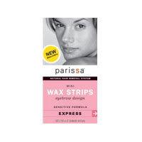 Wax Strips, Mini Eyebrow, 32(16X2 sided)ct by Parissa