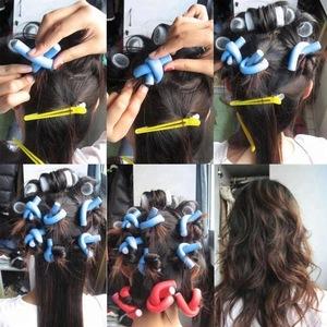 10pcs Long Hair Twist Rods  Hair Extension Salon equipment hair Curly Roller