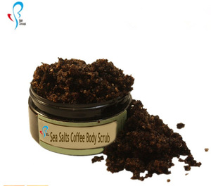 Arabica coffee exfoliating whitening coffee body scrub