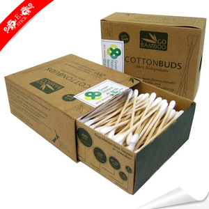 Bacteria free bamboo charcoal dustless cotton buds for travel