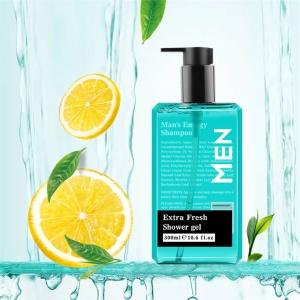 Customized Logo Wholesale price Different Fruity Niacinamide Brightening Scrub Shower Gel Body Wash