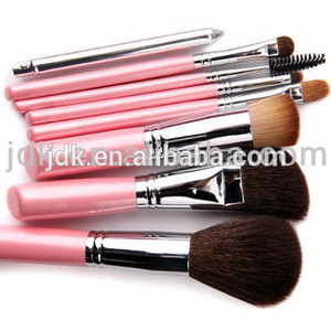 JDK makeup tool factory wholesale high quality 8pcs pink makeup brush set with bag