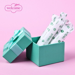 Private Label Certified Organic Cotton Nasal Tampon Brands , Light Regular Super Absorbency Tampons