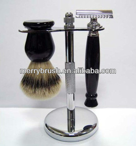 Resin handle Best badger shaving brush set
