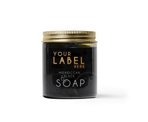 Wholesale Natural Moroccan Black Soap - with Gardenia Essential Oil - Premium Quality Private Label