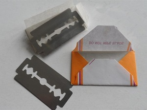 wholesale removable shaving double edge stainless steel platinum hair cutting razor blade shaving