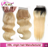 Xbl Hair Unprocessed 100% Natural Human Hair 4X4 Lace Closure