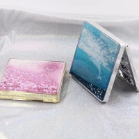 ES-S-001 12 colors square plastic eye shadow case with customized design