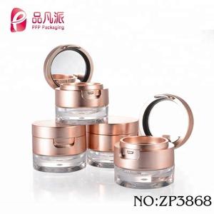 custom empty galore cream container plastic cosmetic jar with mirror