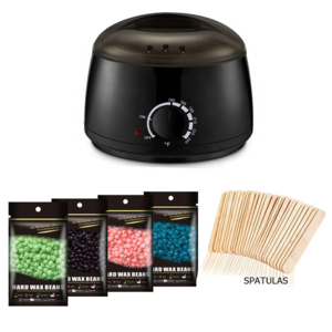 Home Hair Removal Wax Warmer Kit with 4 Different Flavors Hard Beans and 10pcs Applicator Sticks