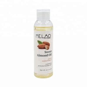 Melao New arrival 4oz 118ml organic sweet almond oil for skin Wholesale