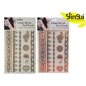 meta Color Change in The Sun waterproof body art painting temporary wholesale tattoo stickers