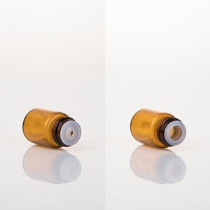 mini glass unique lotion bottle with plastic plug for astringent toner tester packaging for skin toner