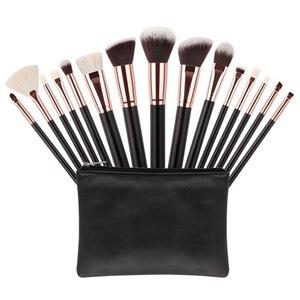 traveling wholesale makeup brushes 15pcs customized