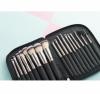 20pcs Vegan Makeup Cosmetic Brush Set with Folding Zipper Pouch
