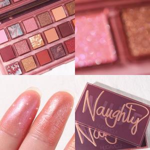 2021New arrival Hudamoji Naught EYESHADOW cosmetics makeup products 18 Colors shiny Eye Shadow Palette