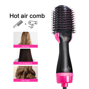 Amazon Top Seller Wholesale Hair Dryer Professional Hot Cold 1200W Hair Brush Dryer Comb One Step Airbrush Hair Dryer