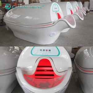 CE Photon 6 Lights 8 Pieces LED Far Infrared Sauna Capsule / Infrared Ozone Sauna Spa Capsule / Steam Sauna