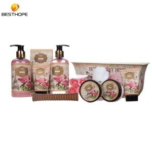 Factory mothers Day gift rose fragrance home spa kit shower gel body care bath gift set